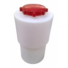 Cylindriska slutna behållare med mjuk hals